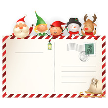 Christmas Friends On Letter Fo...
