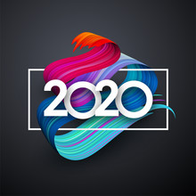 2020 New Year Festive Backgrou...