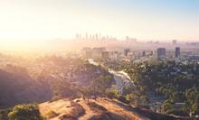 Los Angeles At Foggy Sunrise