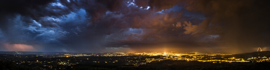 Storm over the city