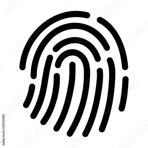 Leinwand Poster  Fingerprint