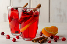 Orange And Cranberry Punch Wit...