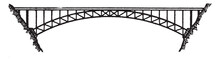 Bridge Ribbed Arch, Vintage Illustration.