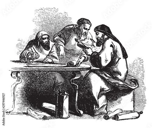 Fotografie, Obraz Scribe, vintage illustration