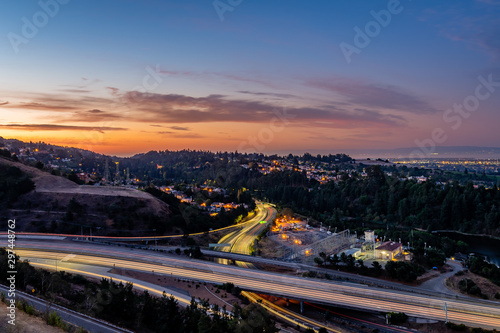 Stampa su Tela Sunrise over the San Francisco Bay Area