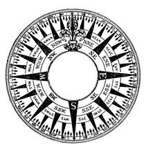 Compass Rose, Vintage Illustra...
