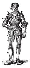 Fototapeta na wymiar Armour, vintage illustration