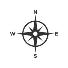 Compass Icon Vector Symbol Ill...