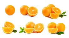 Set Of Orange  Isolated On Wh...