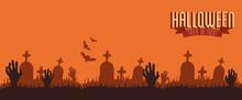 Poster Halloween With Hands Zo...