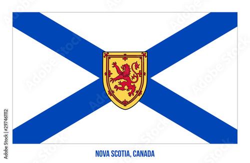 Photo Nova Scotia Flag Vector Illustration on White Background