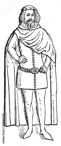 Duke of Clarence, vintage illustration. Canvas Print