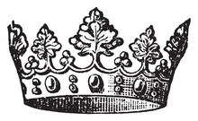 Crown, Vintage Illustration.