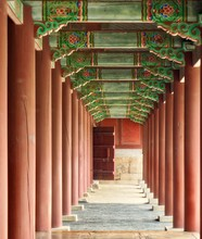 Old Traditional Palace Pillar ...