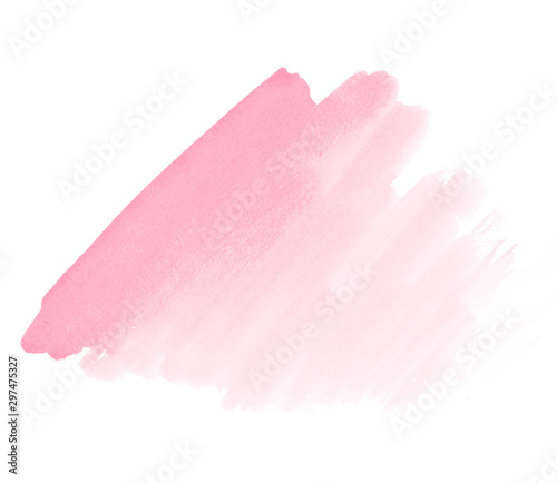 Photo Pink watercolor paint stain space