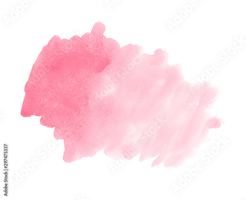 Fotomural  Abstract pink watercolor brush strokes painted background
