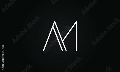 Fotomural  AM OR MA initial based letter icon logo Unique modern creative elegant geometric