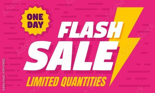 Obraz One day flash sale concept banner. Flat illustration of one day flash sale vector concept banner for web design - fototapety do salonu
