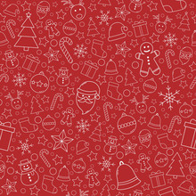 Beautiful Xmas Pattern With Or...