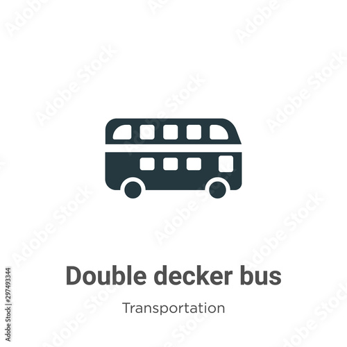 Fotomural Double decker bus vector icon on white background