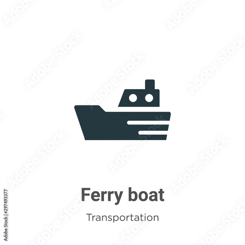 Cuadros en Lienzo Ferry boat vector icon on white background