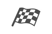 Simple Flag Icon Black And Whi...