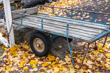 Old Wheelbarrow With Rubber Wh...