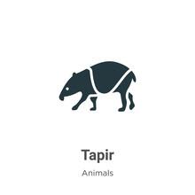 Tapir Vector Icon On White Bac...