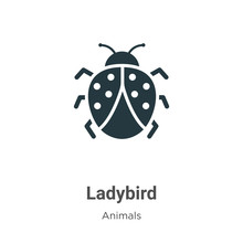 Ladybird Vector Icon On White ...