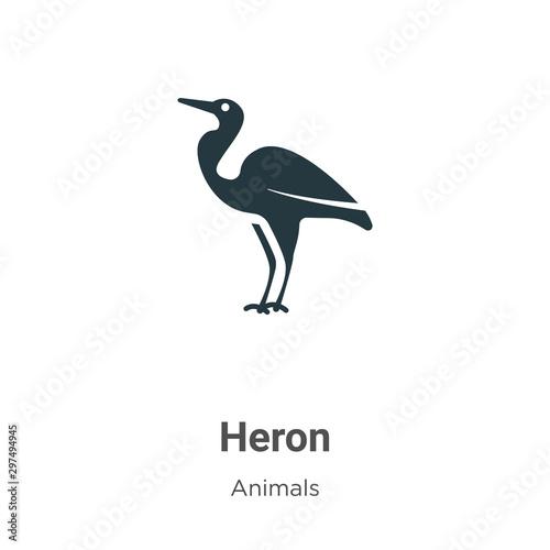Cuadros en Lienzo Heron vector icon on white background