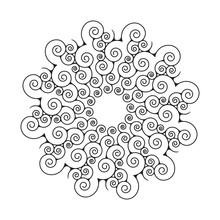 Spiral Mandala Graphic