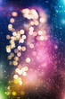 canvas print picture Christmas light background. Holiday glowing backdrop. Defocused Background With Blinking Stars. Blurred Bokeh.