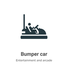 Bumper Car Vector Icon On Whit...