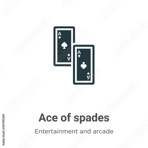 Ace of spades vector icon on white background Wallpaper Mural