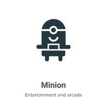 Minion Vector Icon On White Background. Flat Vector Minion Icon Symbol Sign From Modern Entertainment And Arcade Collection For Mobile Concept And Web Apps Design.