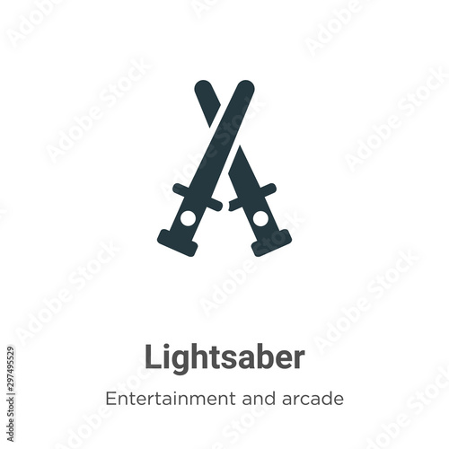 Photo Lightsaber vector icon on white background