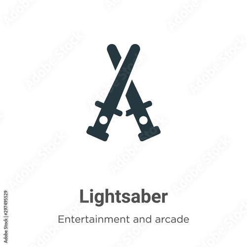 Lightsaber vector icon on white background Fototapet