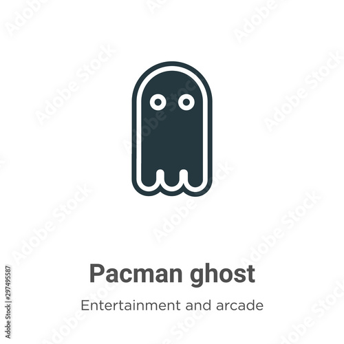 Fototapeta Pacman ghost vector icon on white background