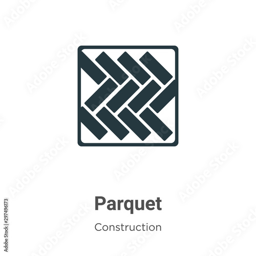 Obraz Parquet vector icon on white background. Flat vector parquet icon symbol sign from modern construction collection for mobile concept and web apps design. - fototapety do salonu