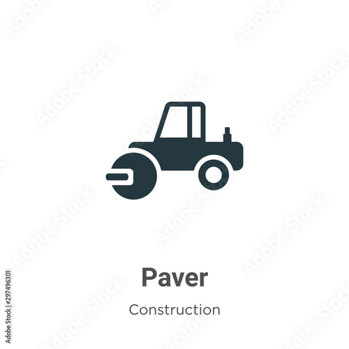 Fotografie, Obraz Paver vector icon on white background