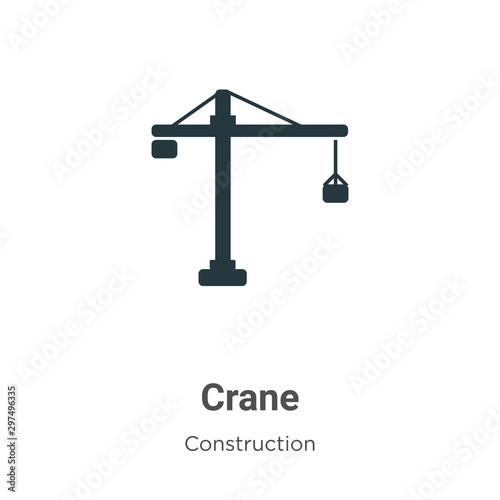 Платно Crane vector icon on white background