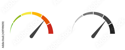 Fotografía Speedometer speed car auto dashboard vector isolated icons