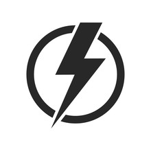 Lightning Isolated Vector Icon...