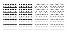 Wave Set In Abstract Style On ...