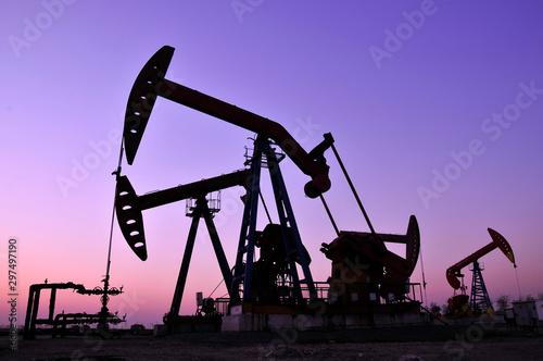 The oil rig Obraz na płótnie