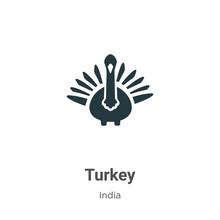 Turkey Vector Icon On White Ba...