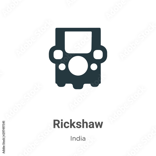 Rickshaw vector icon on white background Canvas-taulu