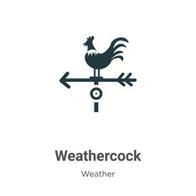 Weathercock Vector Icon On Whi...
