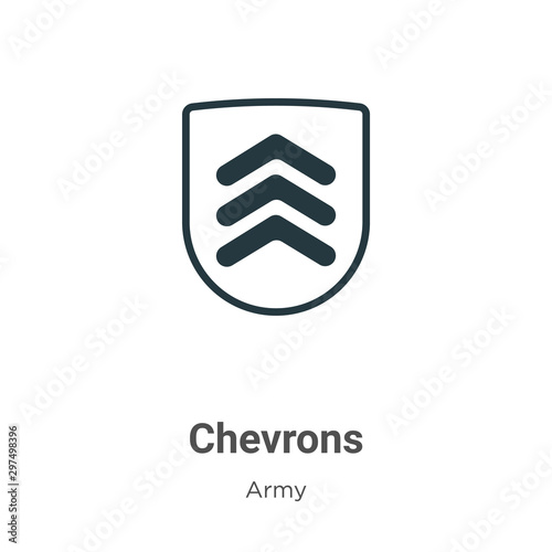 Chevrons vector icon on white background Canvas Print