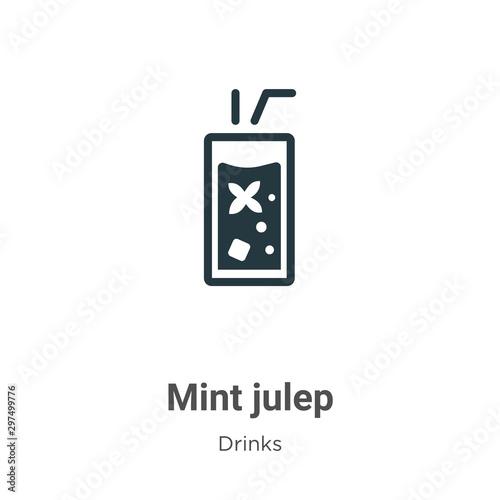 Valokuvatapetti Mint julep vector icon on white background